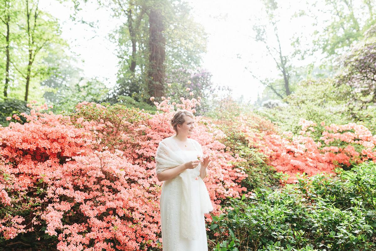 Hochzeitsfotos im Rhododendron-Park
