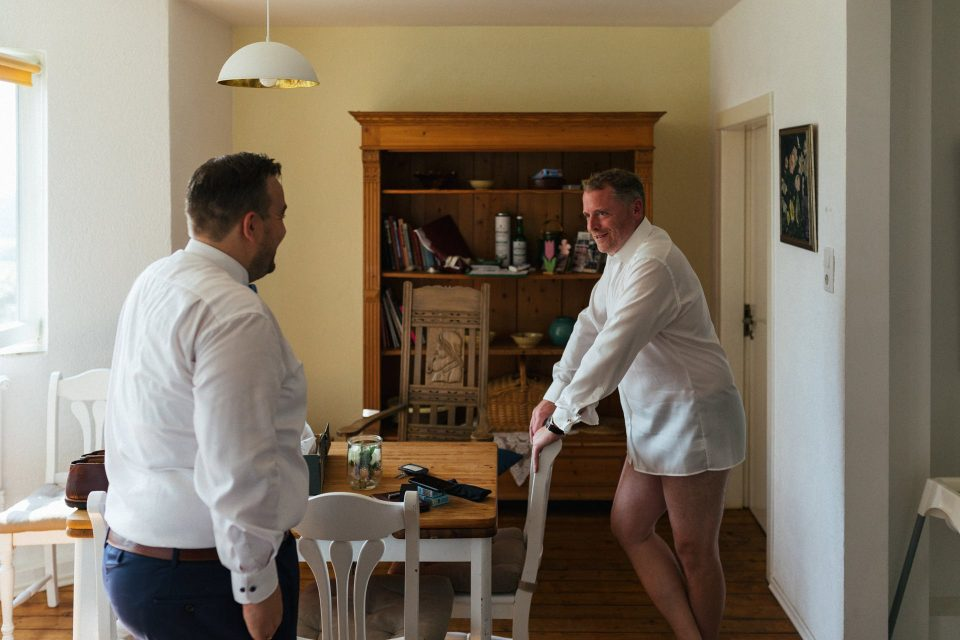 Hochzeitsvorbereitungen im Willi Ohler Haus Worpswede bei Bremen