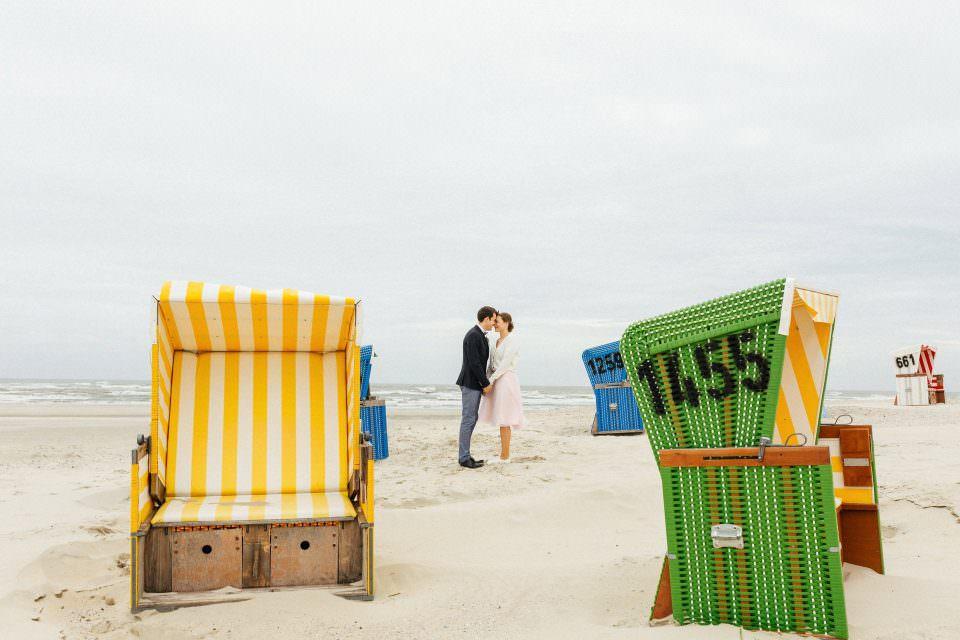 Hochzeit am Strand auf Langeoog
