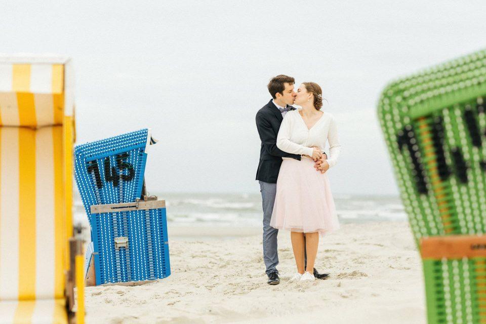 Hochzeit zu zweit allein auf Langeoog